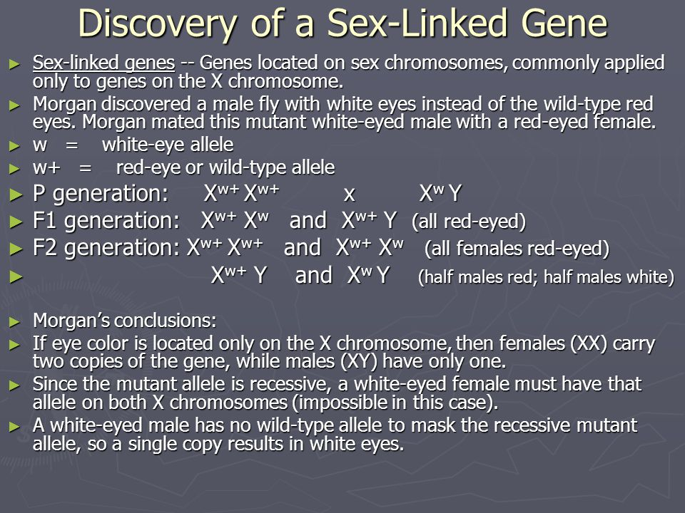 Discovery of a Sex-Linked Gene
