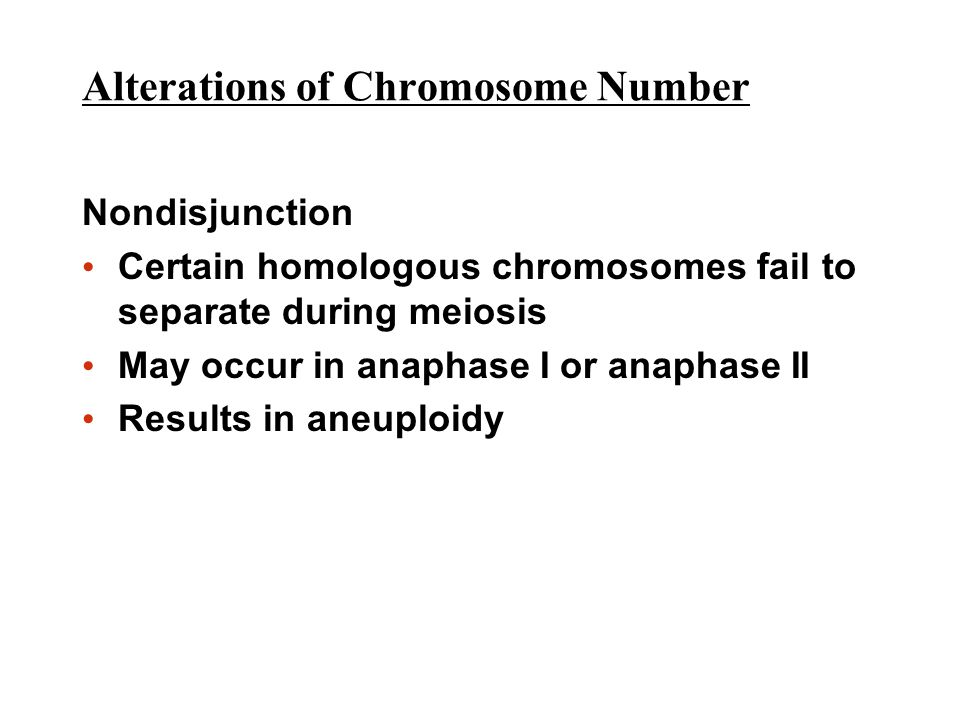 Alterations of Chromosome Number