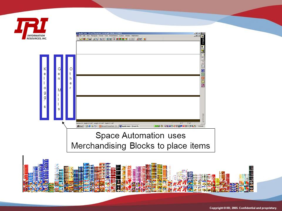 Space Automation uses Merchandising Blocks to place items