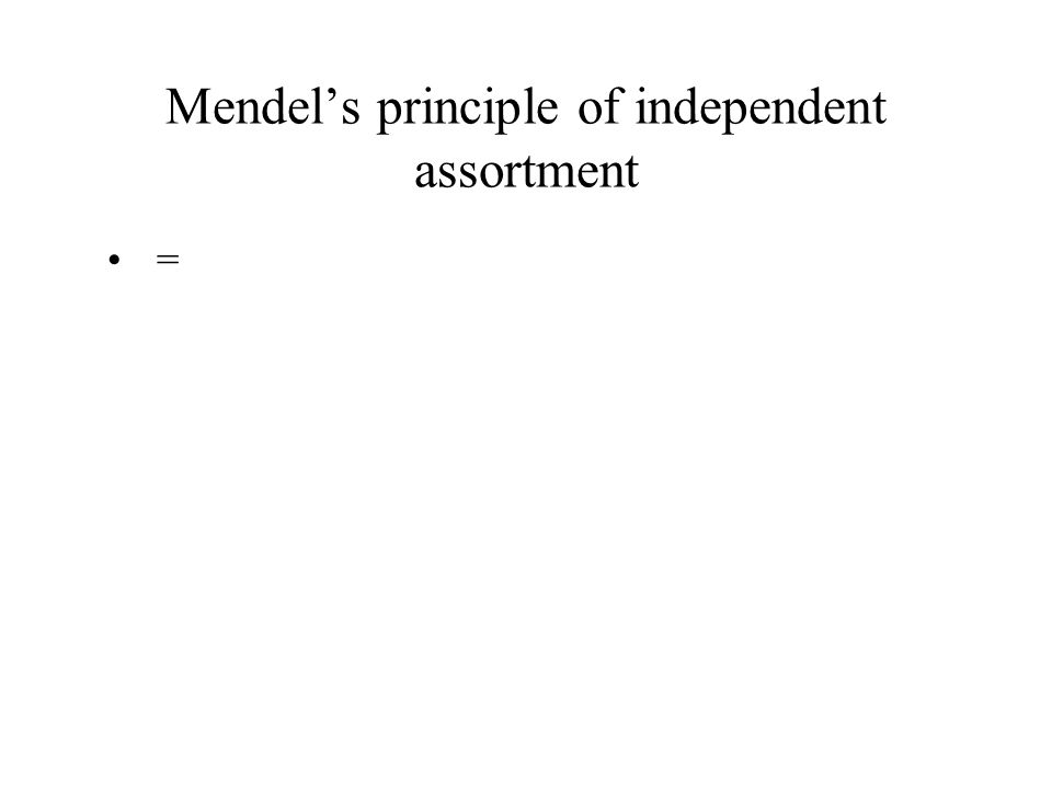 Mendel's principle of independent assortment