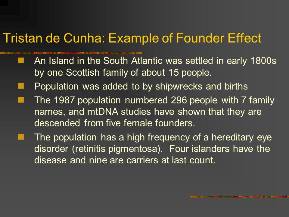 Tristan de Cunha: Example of Founder Effect