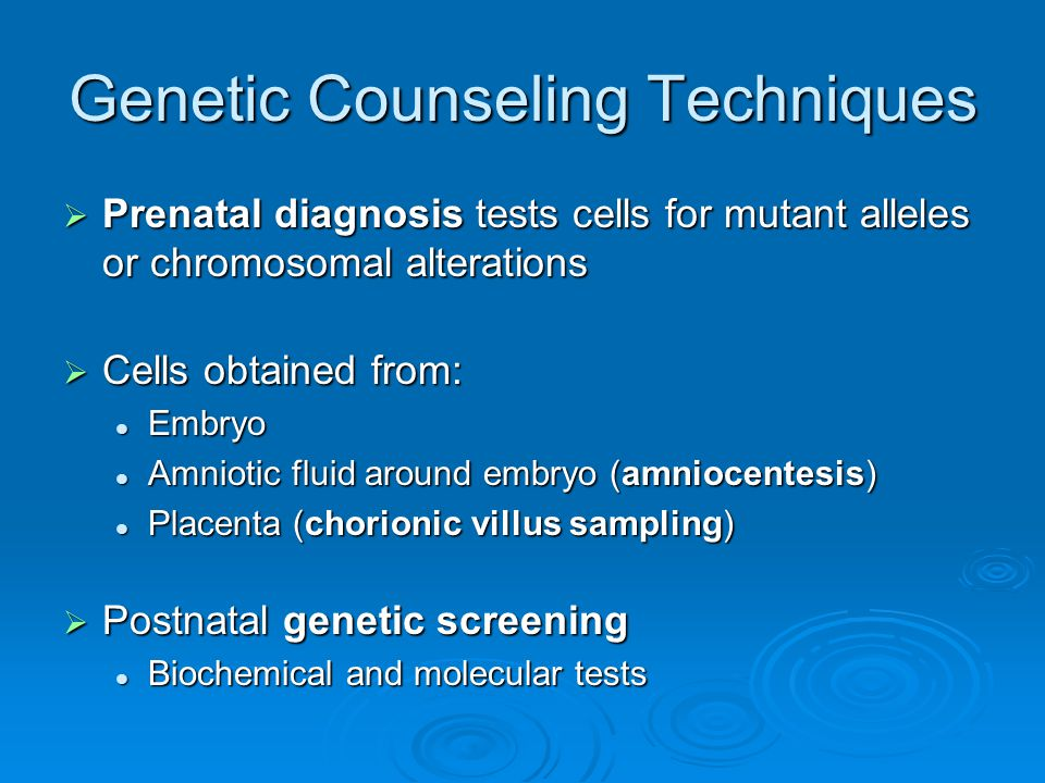Genetic Counseling Techniques