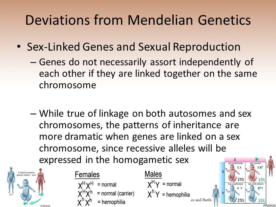 Deviations from Mendelian Genetics