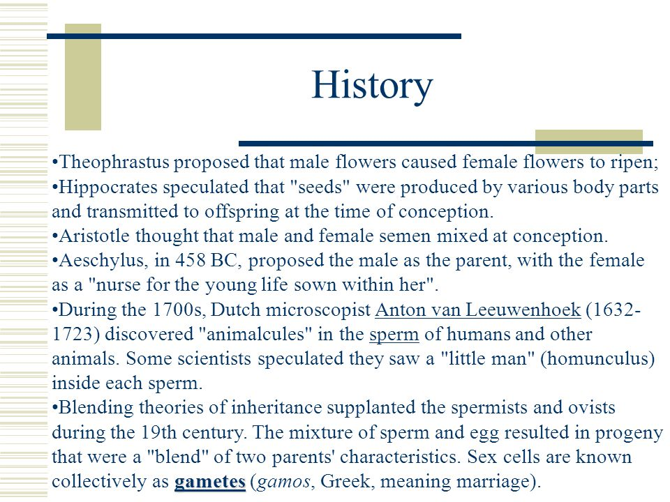 History Theophrastus proposed that male flowers caused female flowers to ripen;