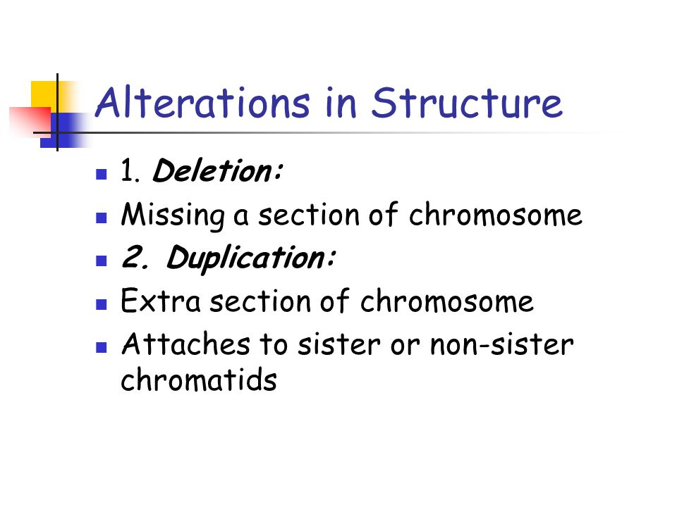 Alterations in Structure