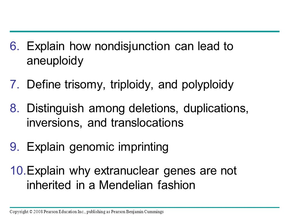 Explain how nondisjunction can lead to aneuploidy