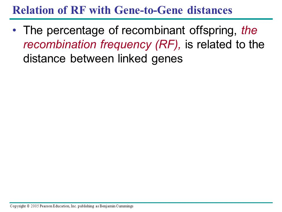 Relation of RF with Gene-to-Gene distances