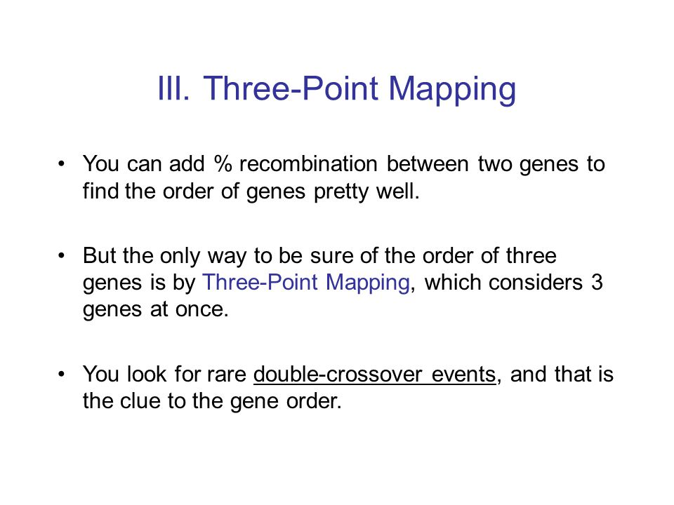 III. Three-Point Mapping