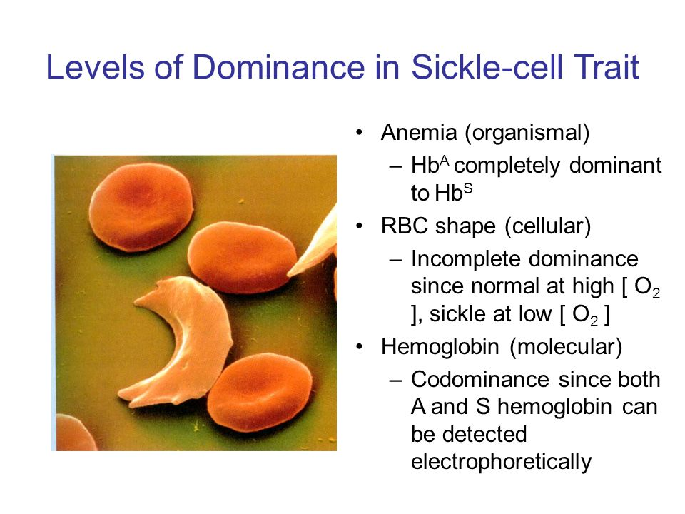 Levels of Dominance in Sickle-cell Trait