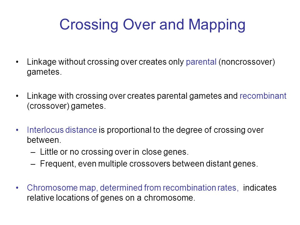 Crossing Over and Mapping