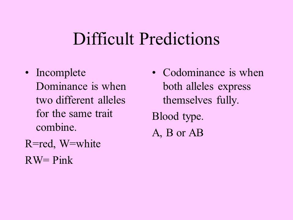 Difficult Predictions