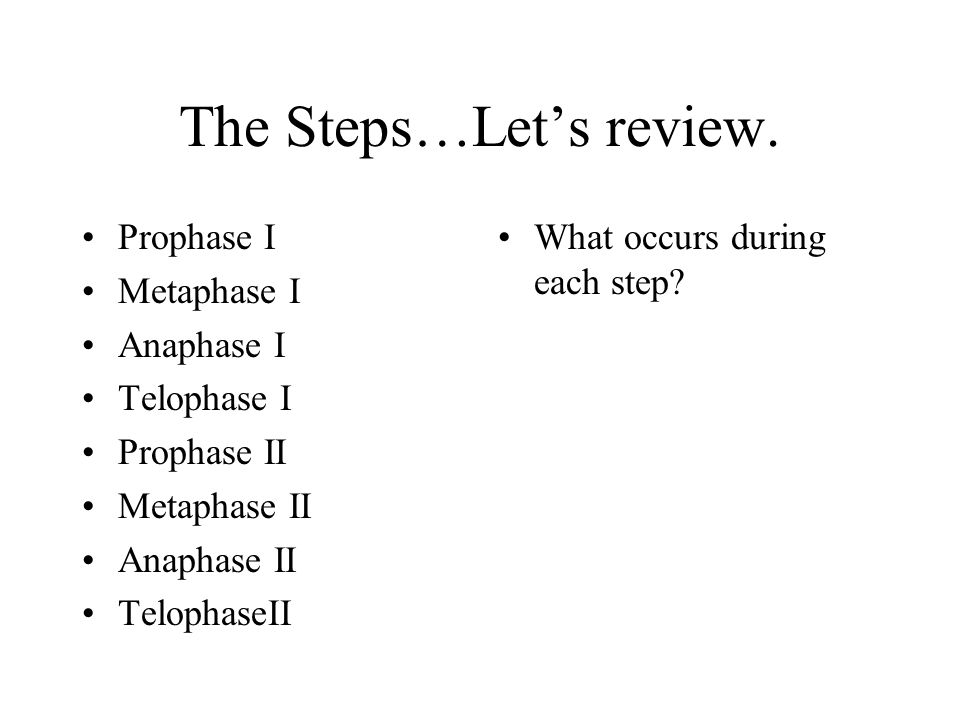 The Steps…Let's review.
