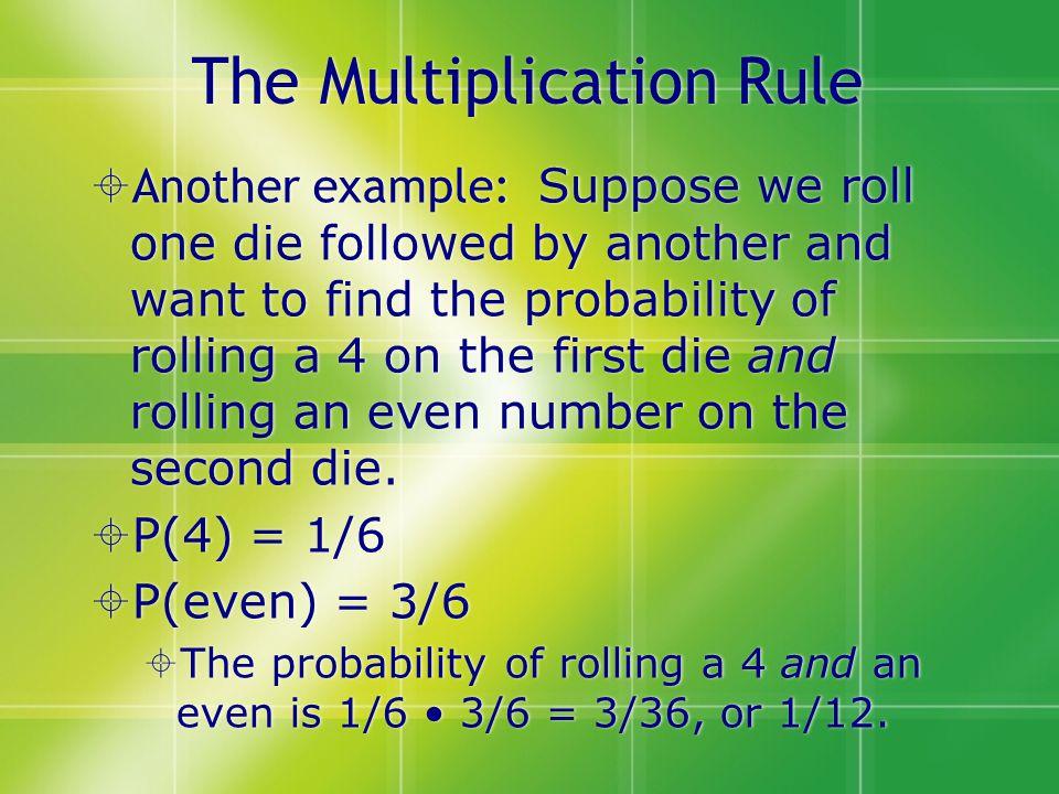 The Multiplication Rule