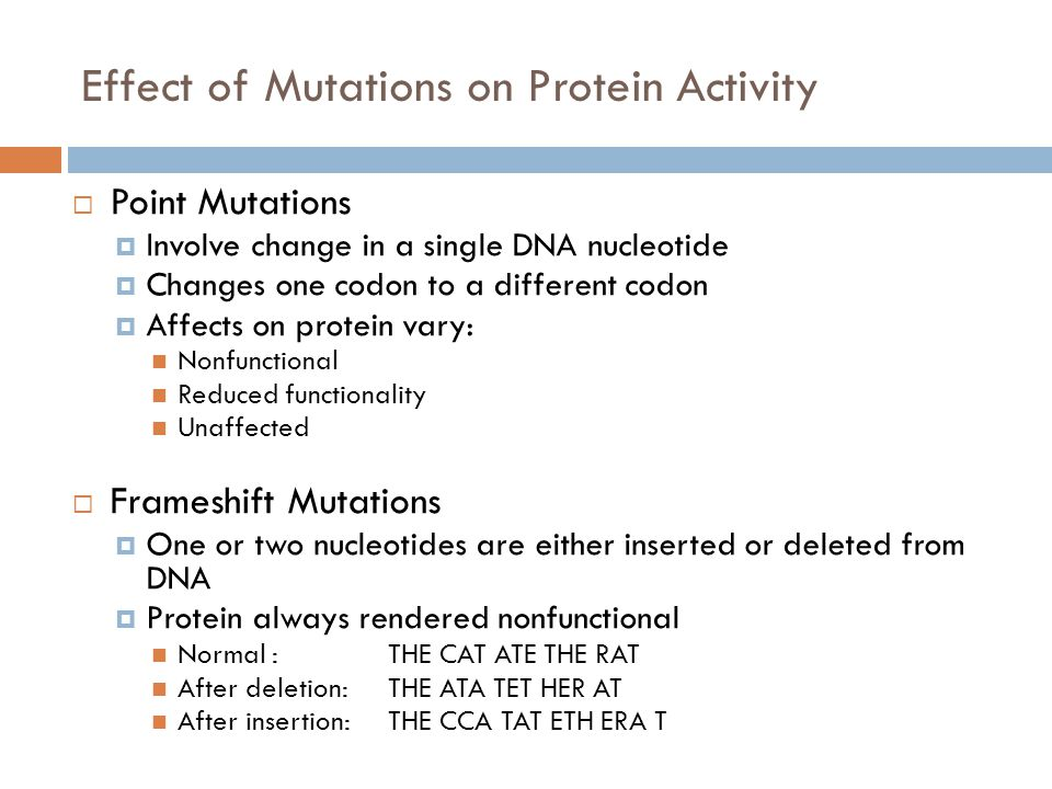 Effect of Mutations on Protein Activity