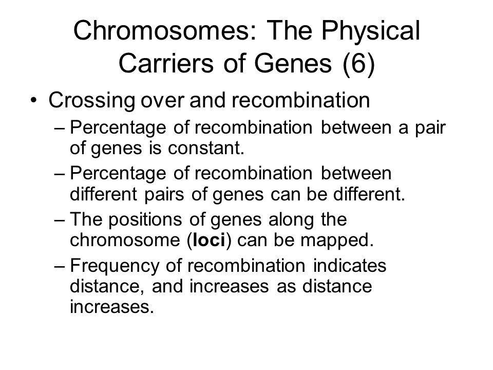 Chromosomes: The Physical Carriers of Genes (6)