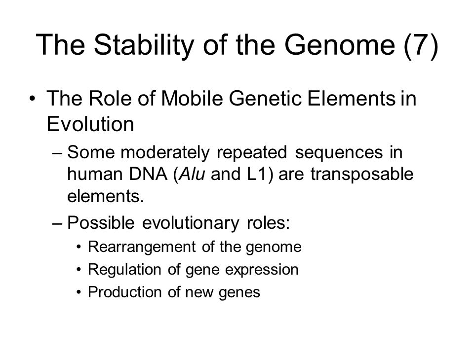 The Stability of the Genome (7)