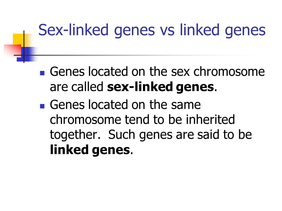 Sex-linked genes vs linked genes