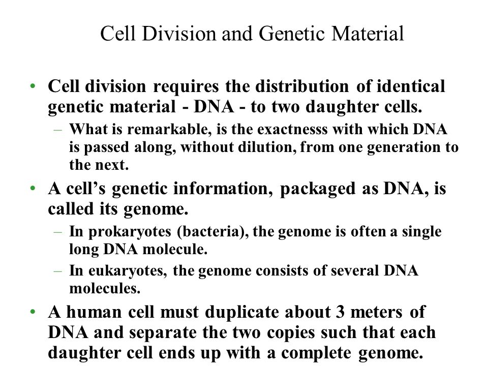 Cell Division and Genetic Material