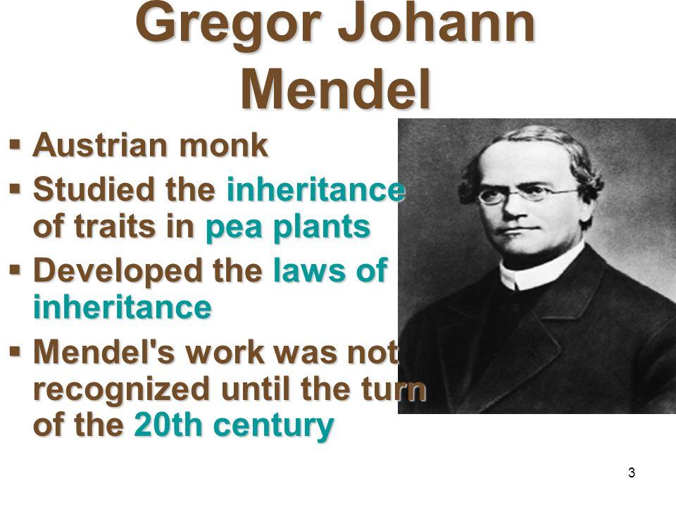 Gregor Johann Mendel Austrian monk
