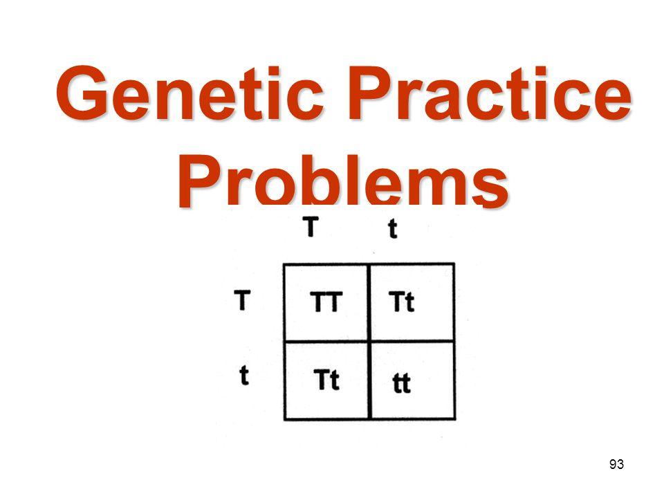 Genetic Practice Problems
