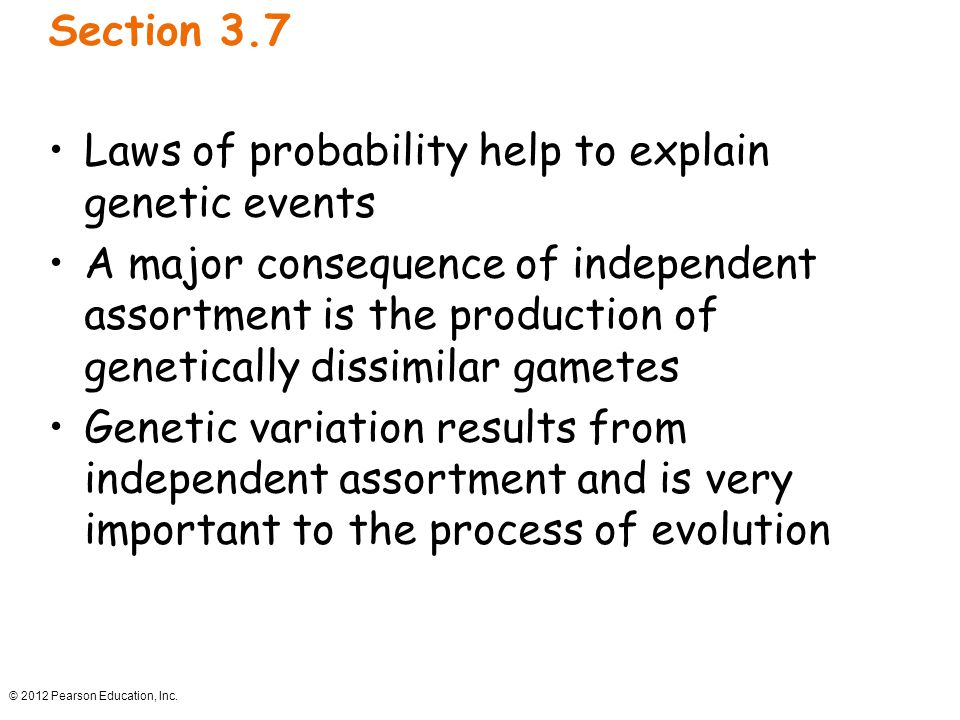 Laws of probability help to explain genetic events