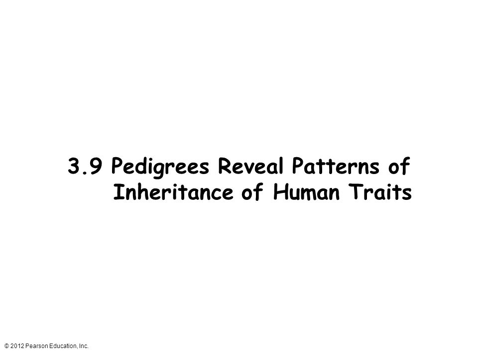 3.9 Pedigrees Reveal Patterns of Inheritance of Human Traits