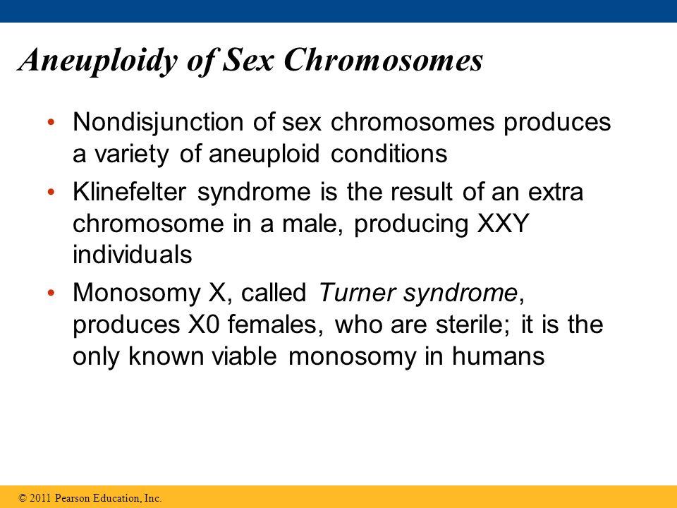 Aneuploidy of Sex Chromosomes