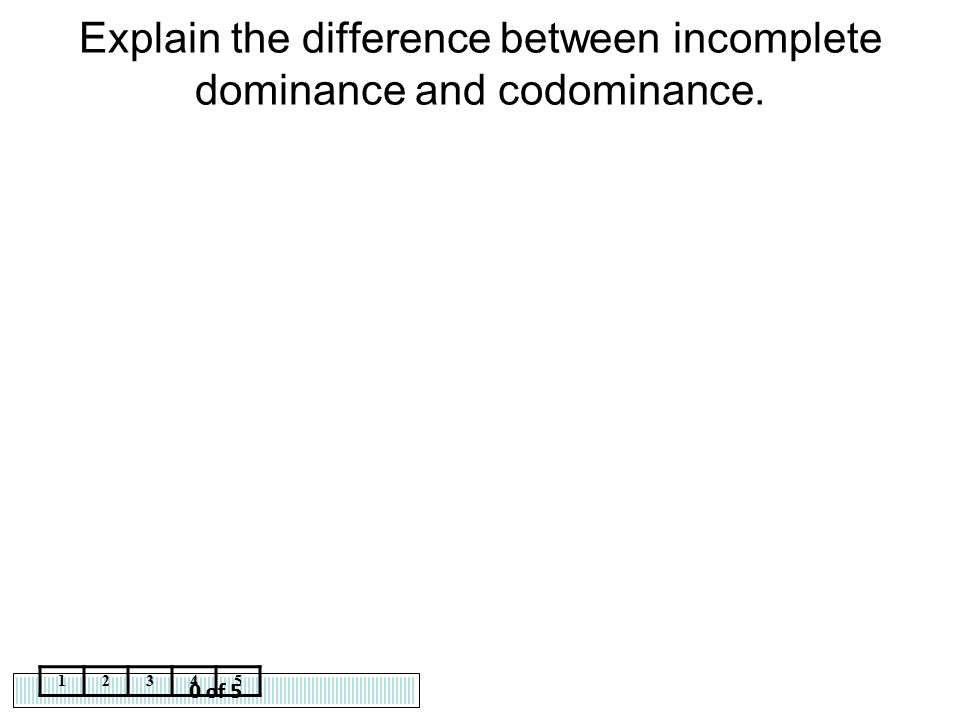Explain the difference between incomplete dominance and codominance.