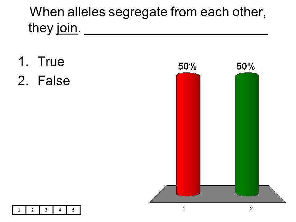 When alleles segregate from each other, they join