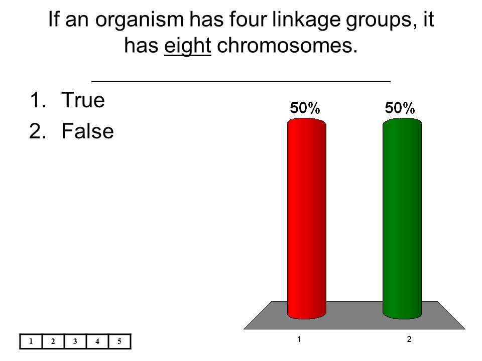 If an organism has four linkage groups, it has eight chromosomes