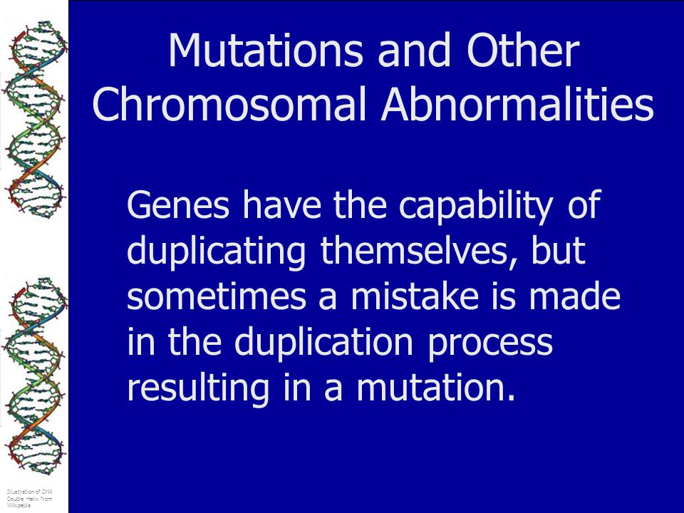 Mutations and Other Chromosomal Abnormalities