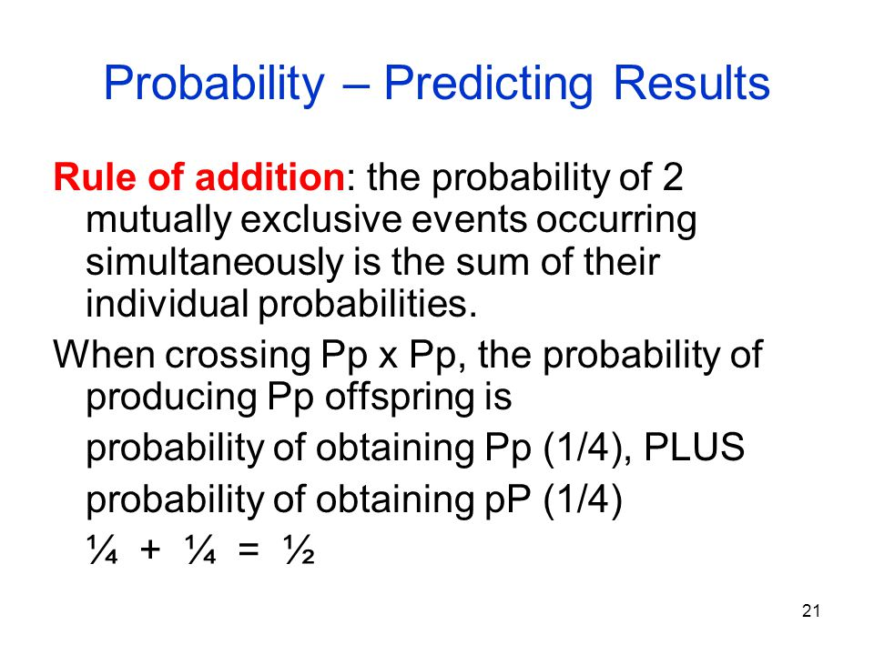 Probability – Predicting Results