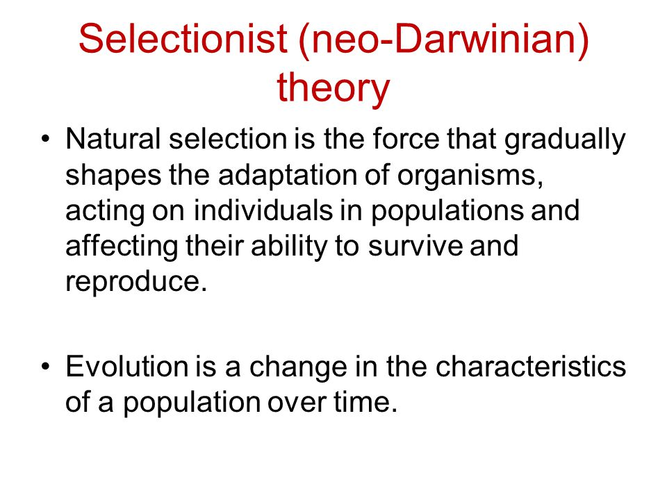 Natural Selection Occurs On What Level Of Organisms