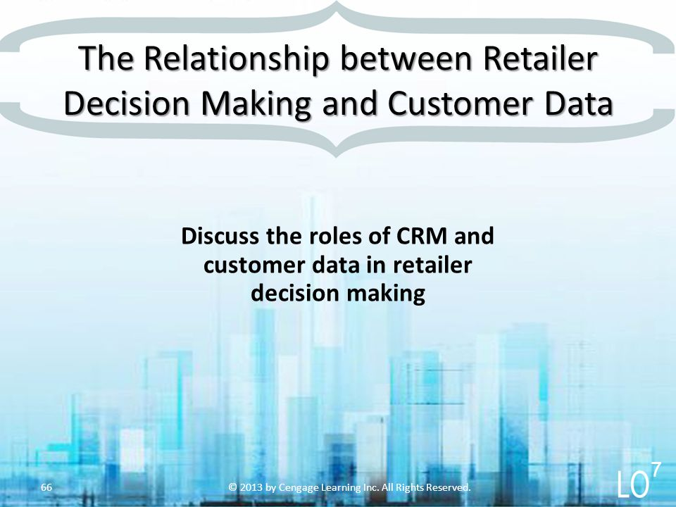 The Relationship between Retailer Decision Making and Customer Data
