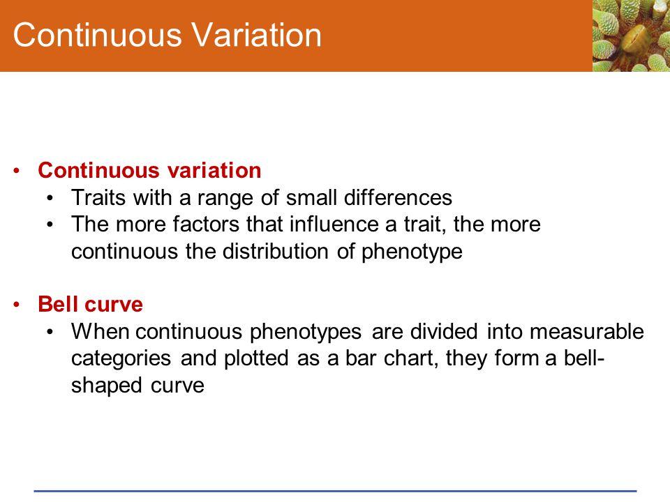 Continuous Variation Continuous variation