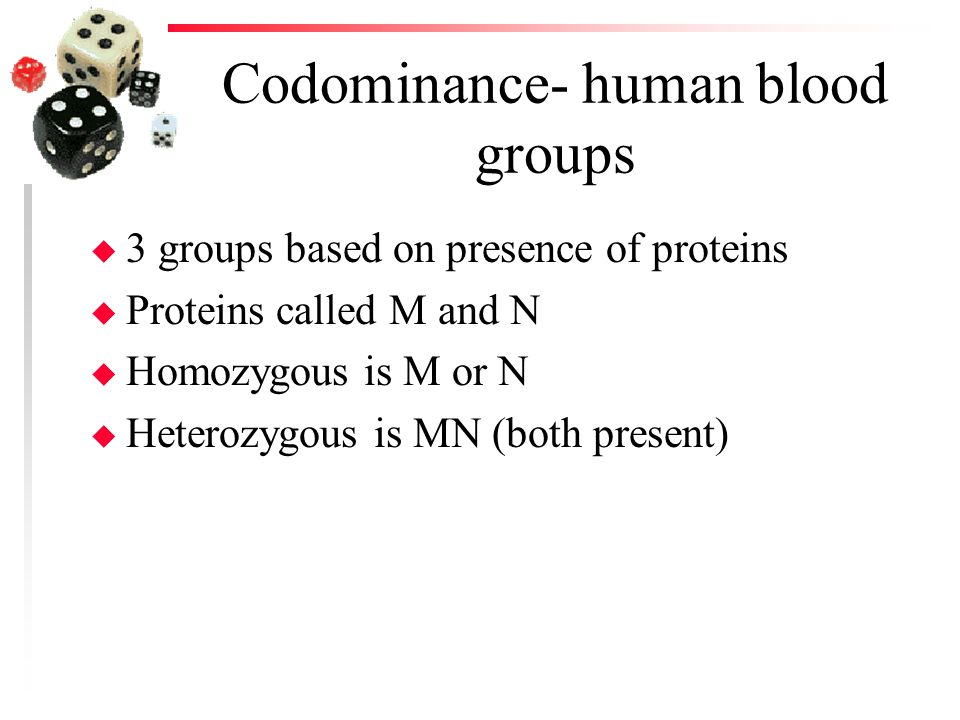 Codominance- human blood groups