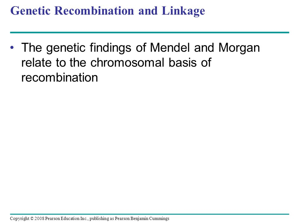 Genetic Recombination and Linkage