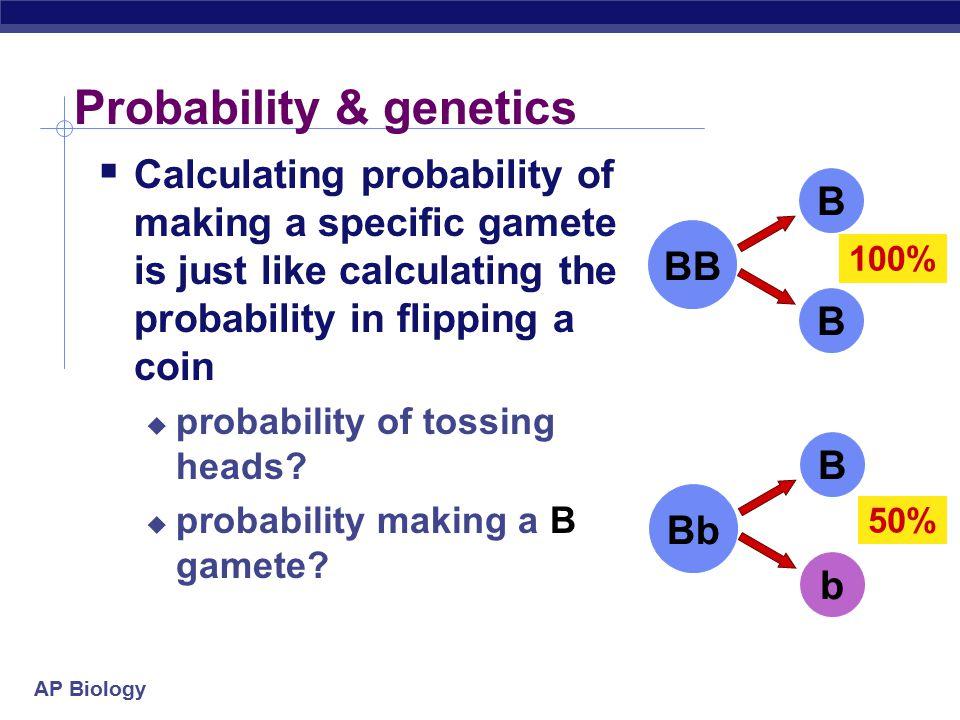 Probability & genetics