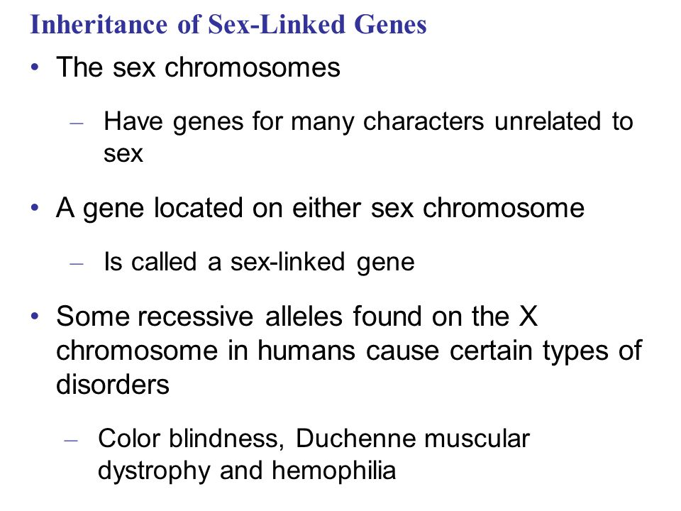 Inheritance of Sex-Linked Genes