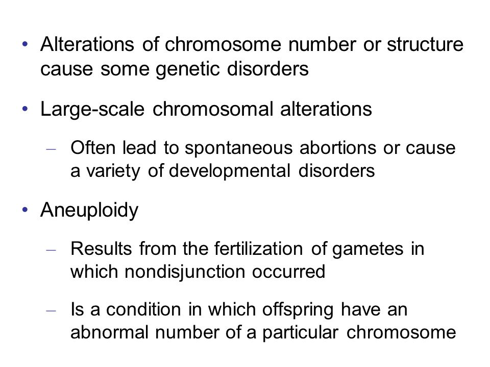 Large-scale chromosomal alterations