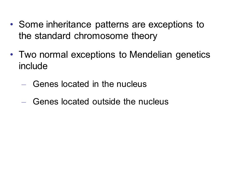 Two normal exceptions to Mendelian genetics include