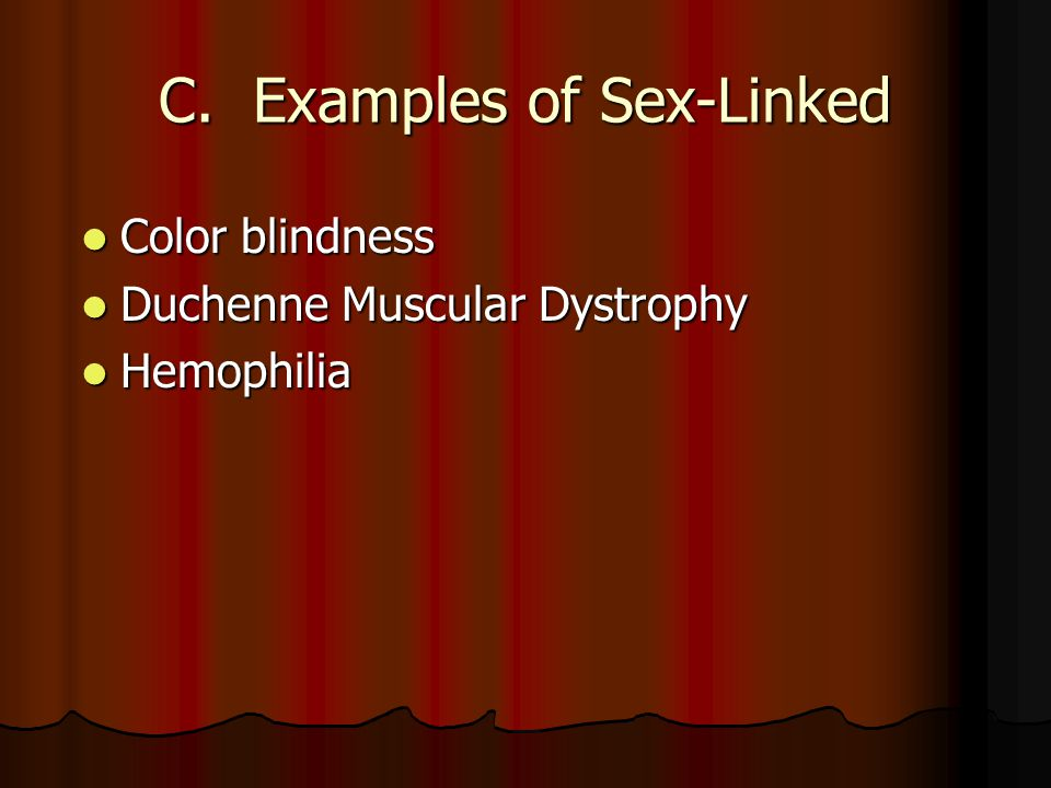 C. Examples of Sex-Linked