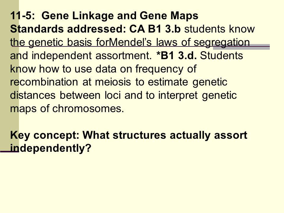 11-5: Gene Linkage and Gene Maps