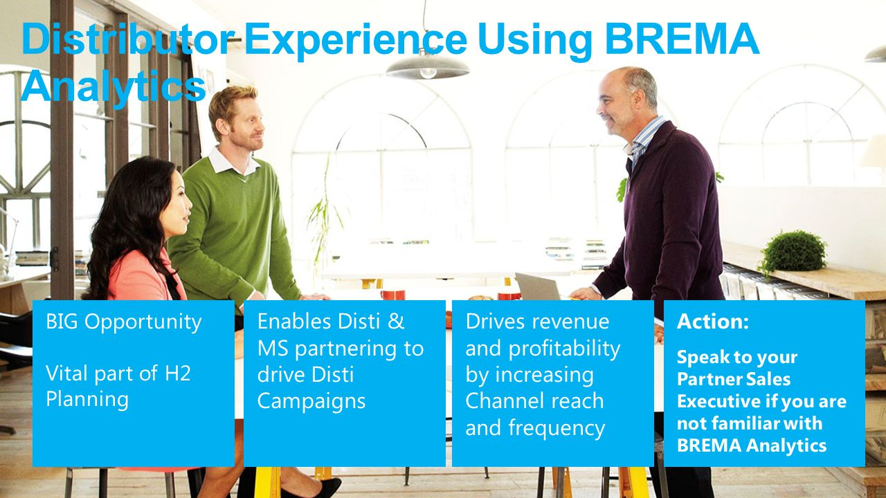 Distributor Experience Using BREMA Analytics
