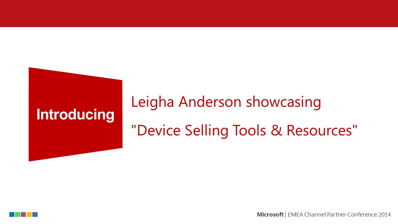Introducing Leigha Anderson showcasing Device Selling Tools & Resources