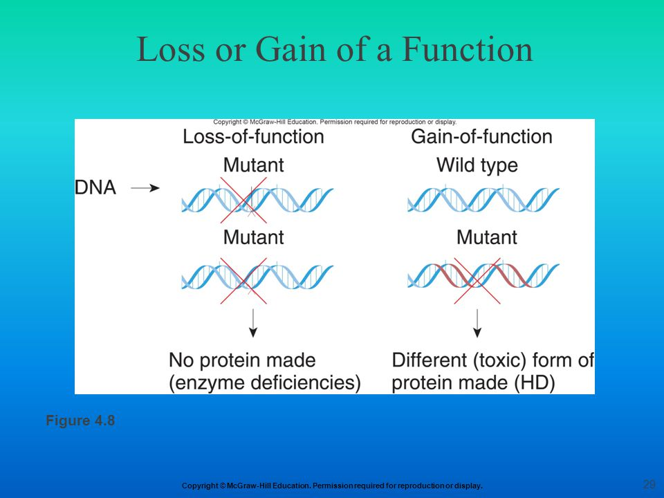 Loss or Gain of a Function