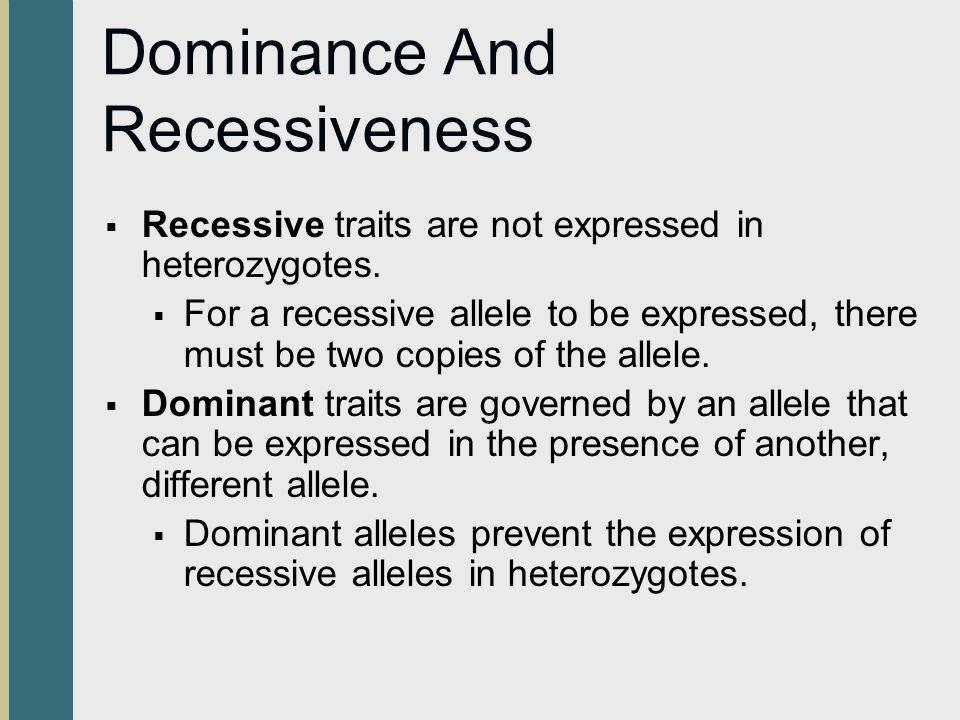Dominance And Recessiveness