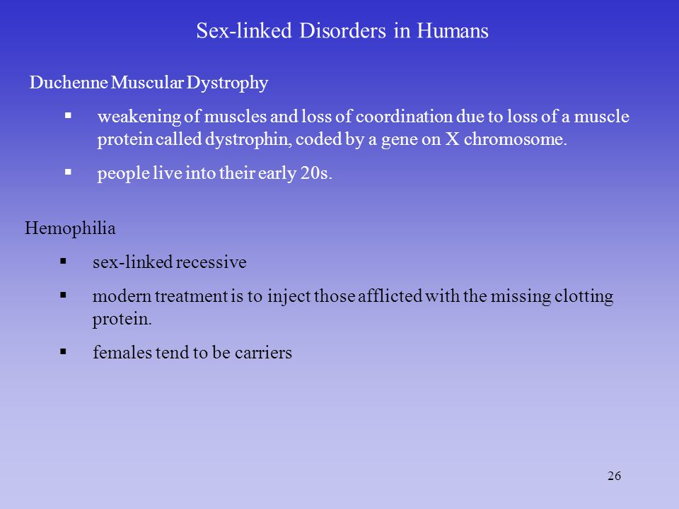 Sex-linked Disorders in Humans