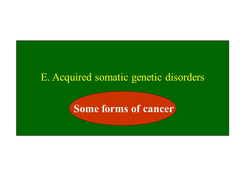 E. Acquired somatic genetic disorders