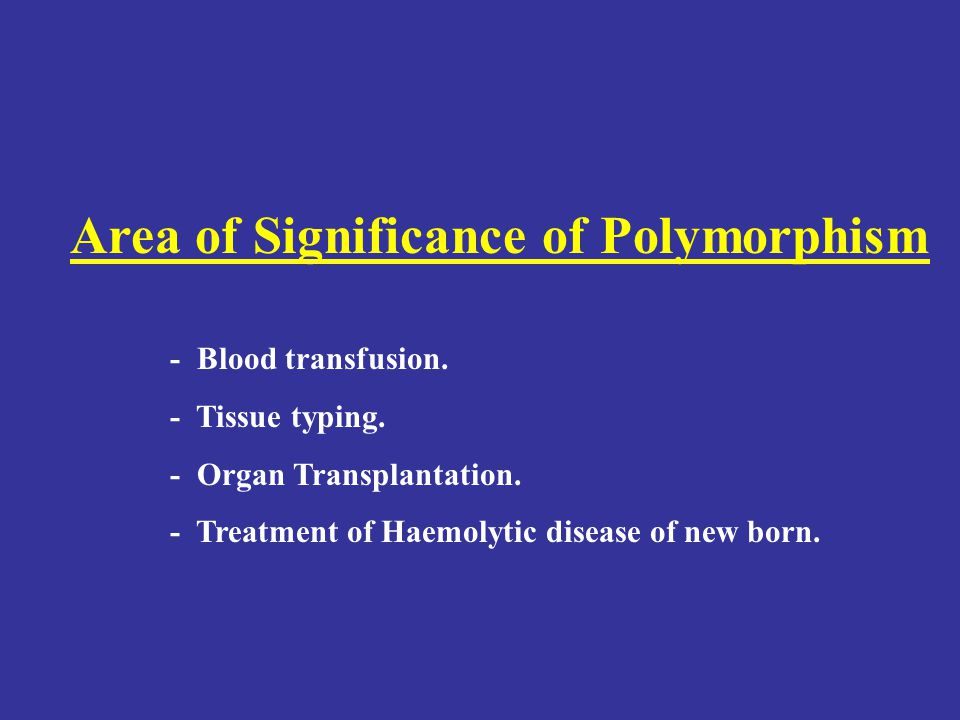 Area of Significance of Polymorphism